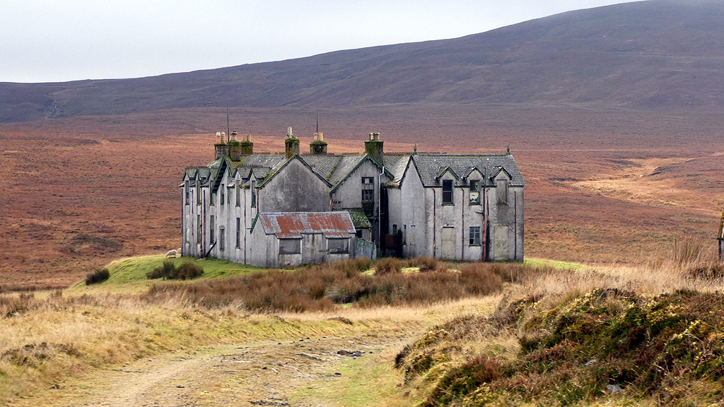 Image showing a large derelict country house