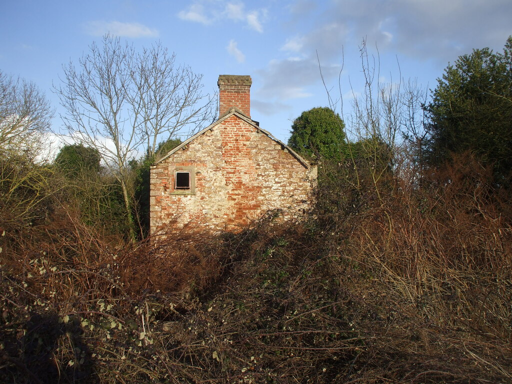 Image showing a derelict rural house in the UK