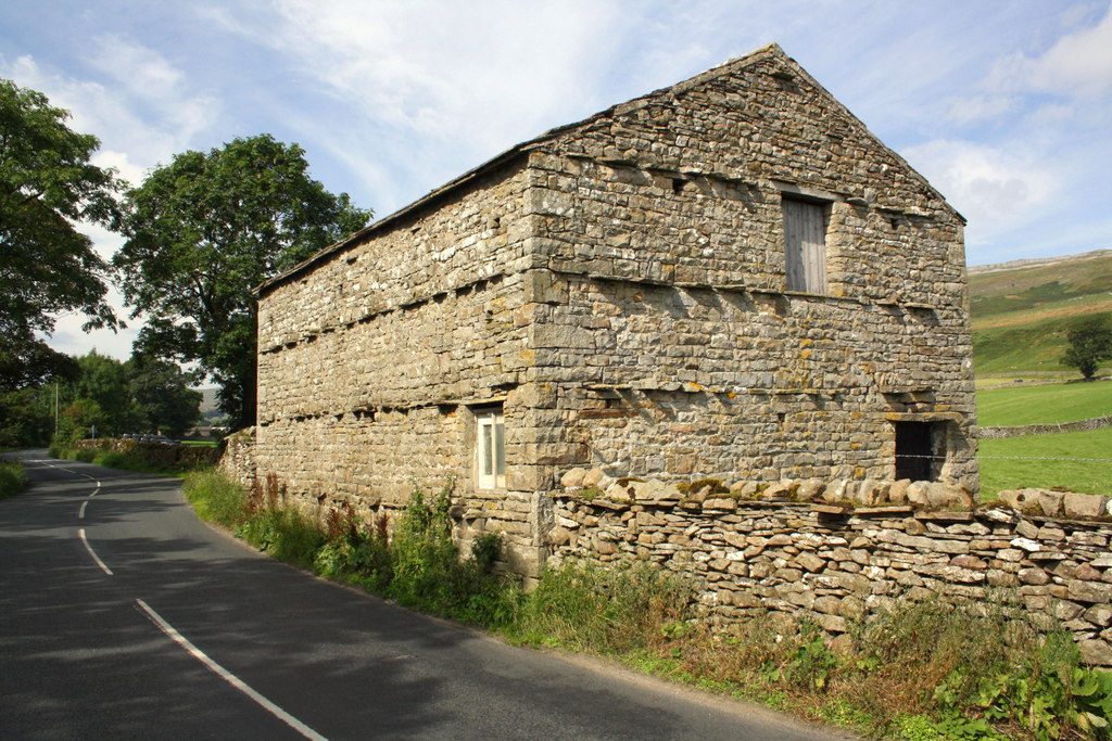 Image showing a stone barn