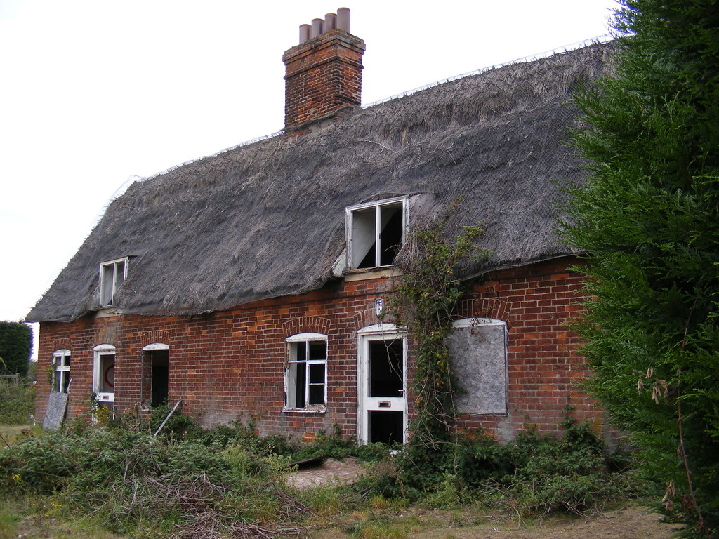Image showing derelict cottages