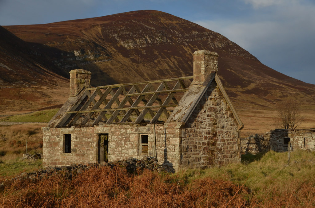 Image showing a derelict house in Scotland