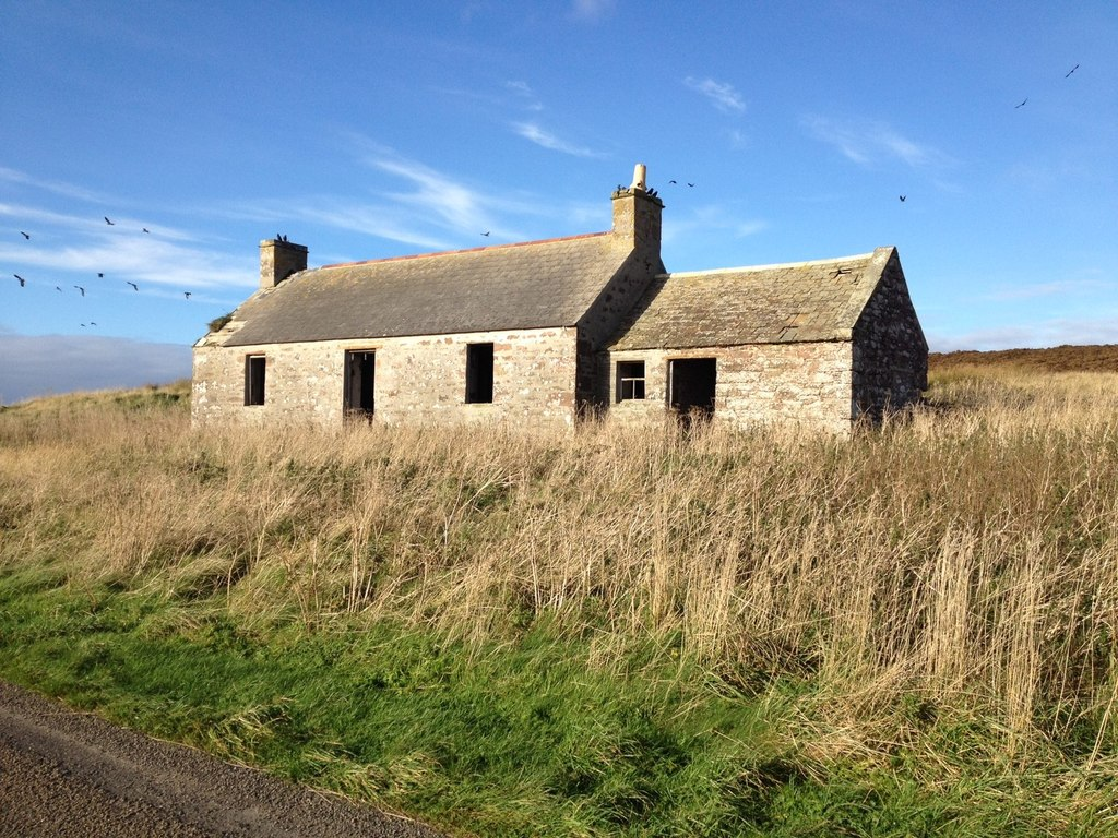 Image showing a derelict property for sale in Scotland