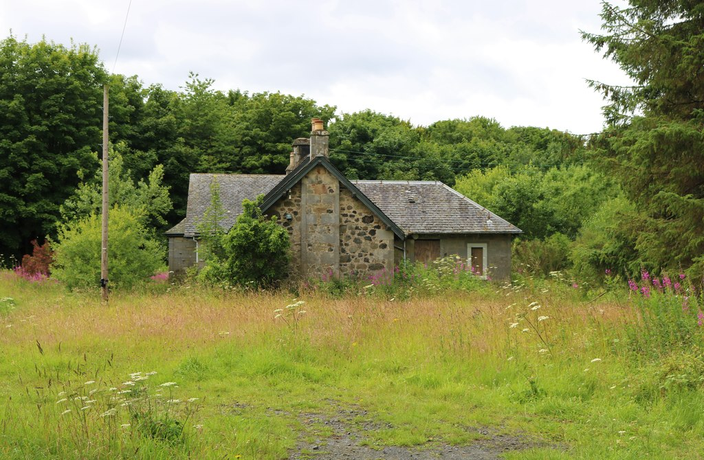 Image showing derelict property with land for sale