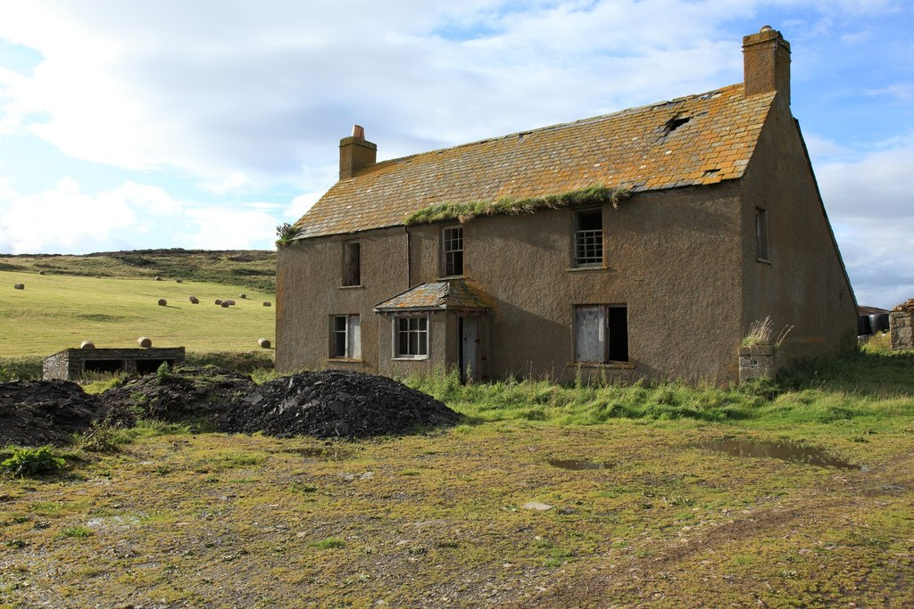 Image showing an abandoned cottage for sale