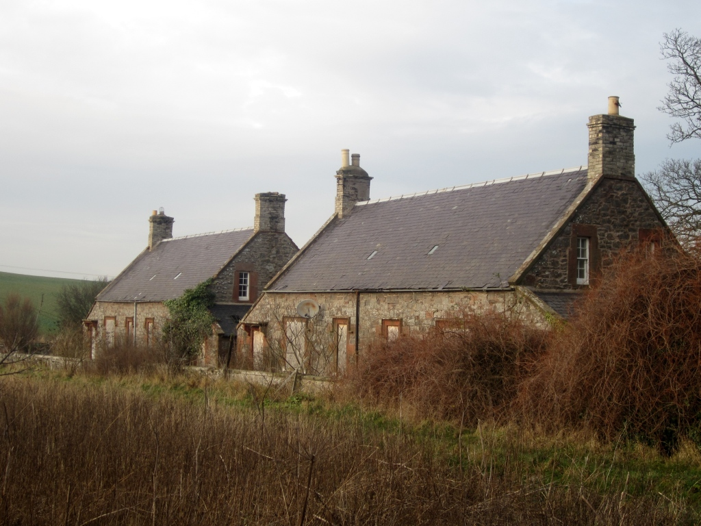 Image showing two derelict cottages for sale