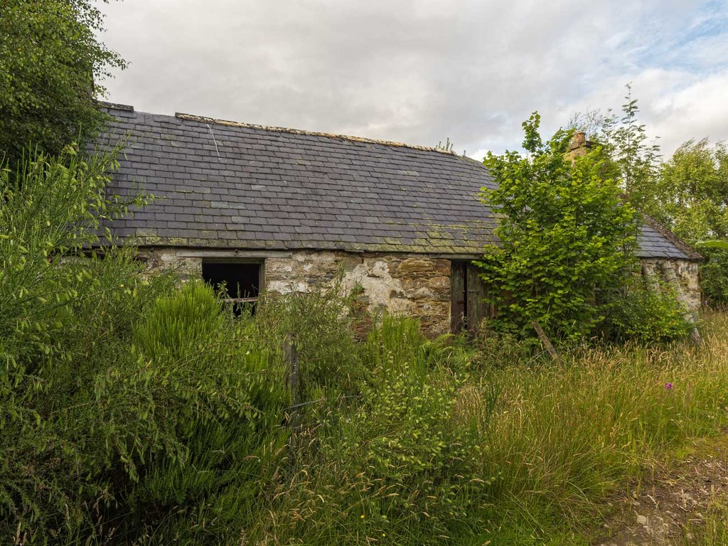 Image showing a derelict croft with land in Scotland