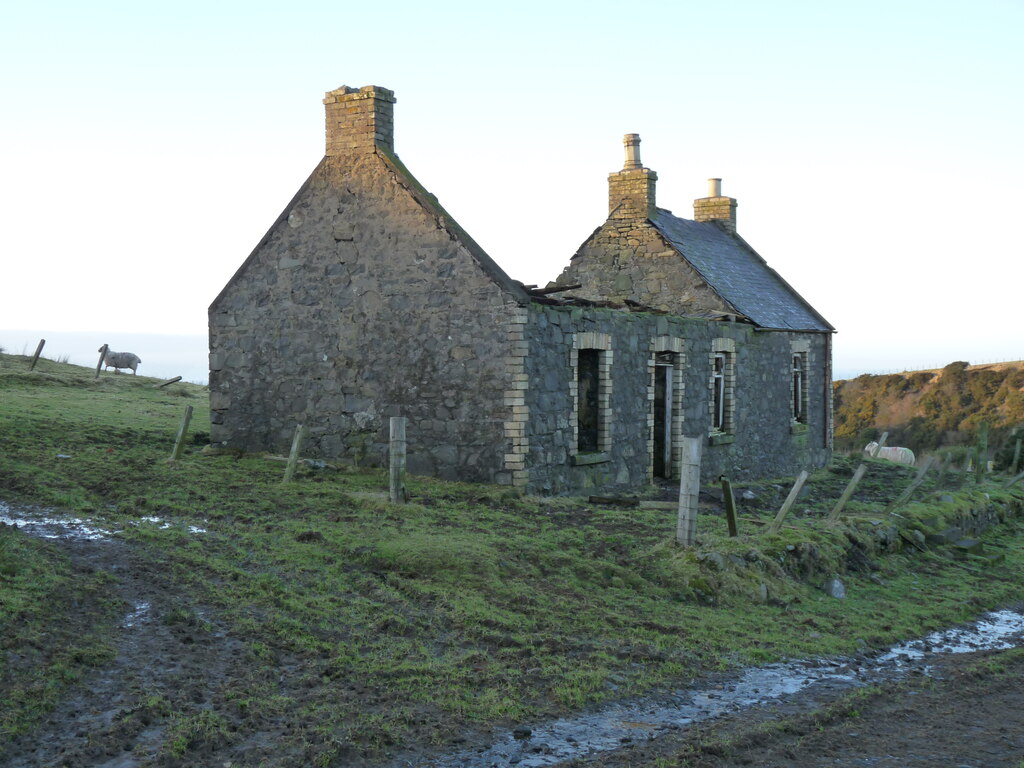 Land with a derelict cottage