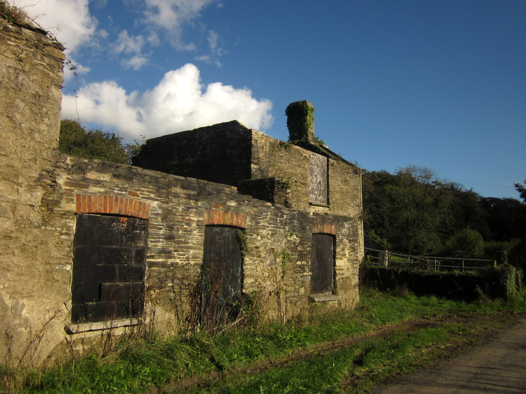 Image showing a derelict farmhouse in Cornwall